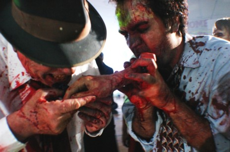 pictures of zombies eating people